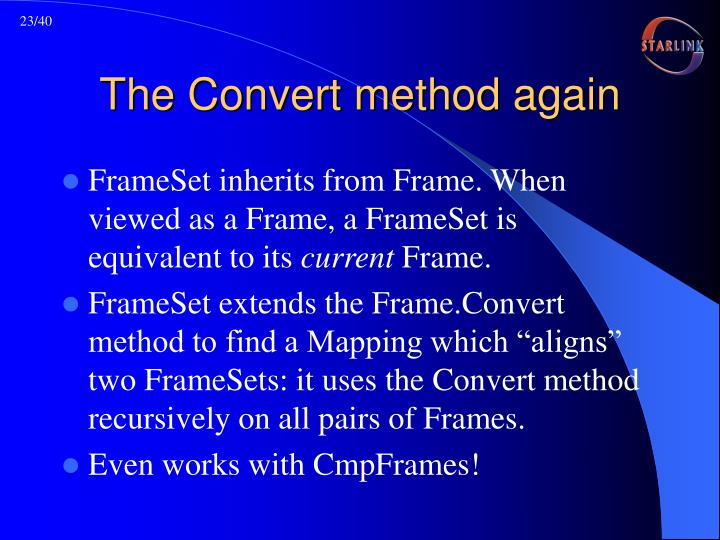 The Convert method again