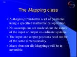 the mapping class