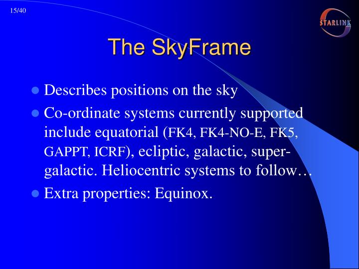 The SkyFrame
