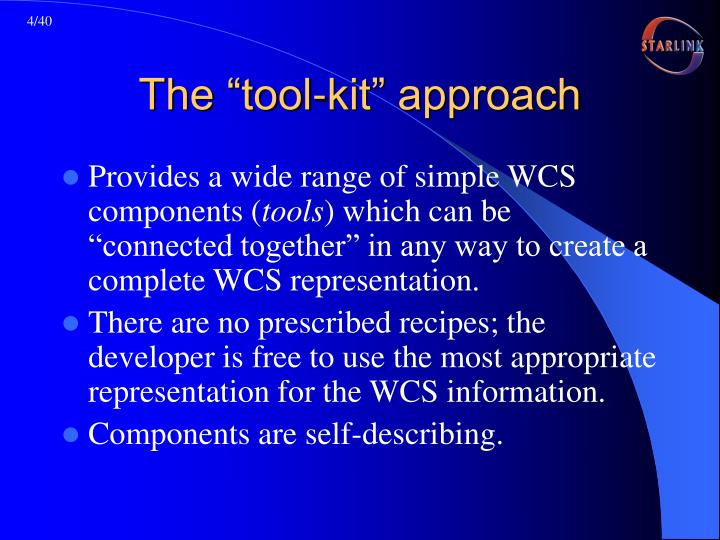 "The ""tool-kit"" approach"