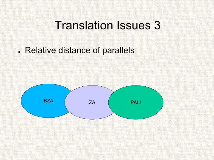 Translation Issues 3