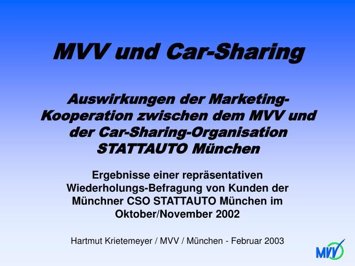 MVV und Car-Sharing
