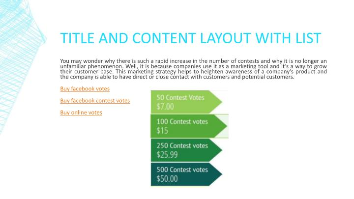 Title and content layout with list