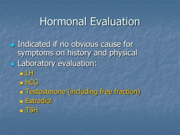 Hormonal Evaluation