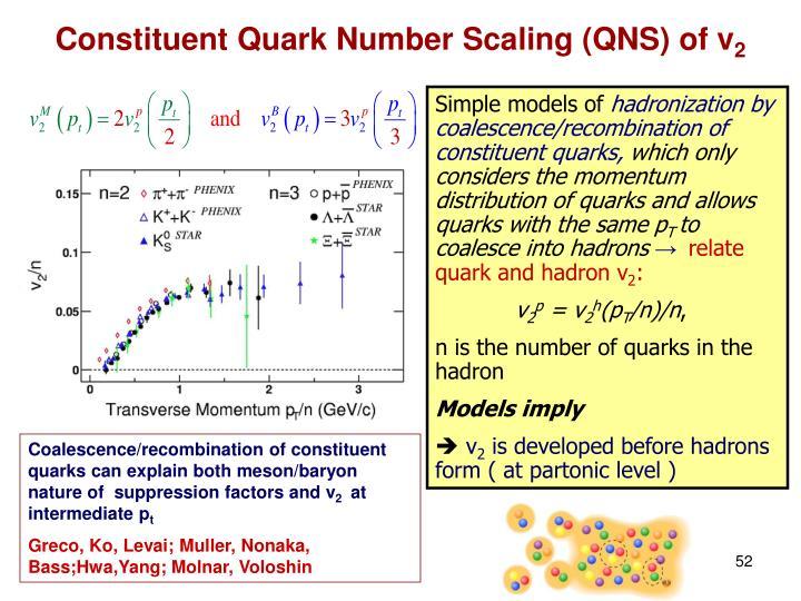 Constituent Quark Number Scaling (QNS) of v
