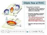 elliptic flow at rhic1