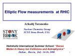 elliptic flow measurements at rhic