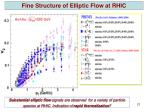 fine structure of elliptic flow at rhic