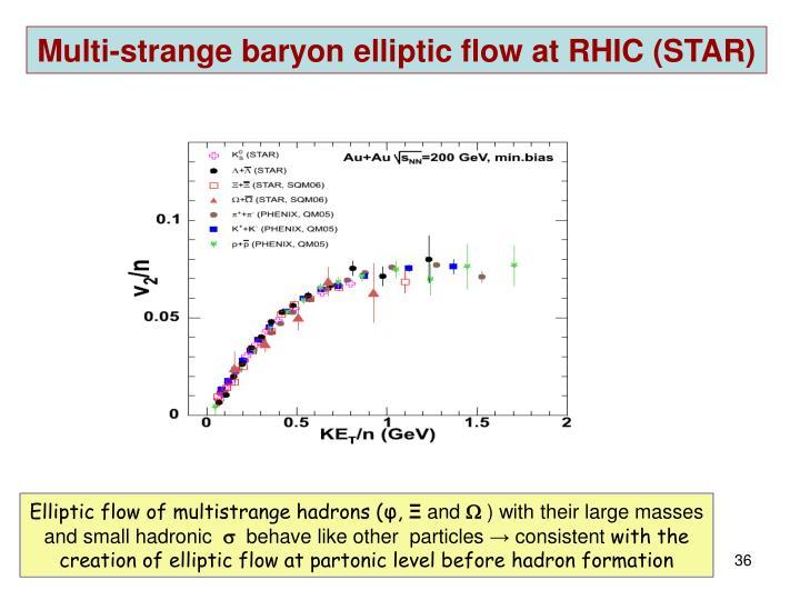 Multi-strange baryon elliptic flow at RHIC (STAR)