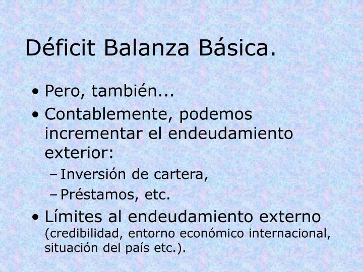 Déficit Balanza Básica.