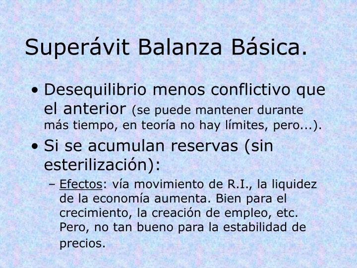 Superávit Balanza Básica.