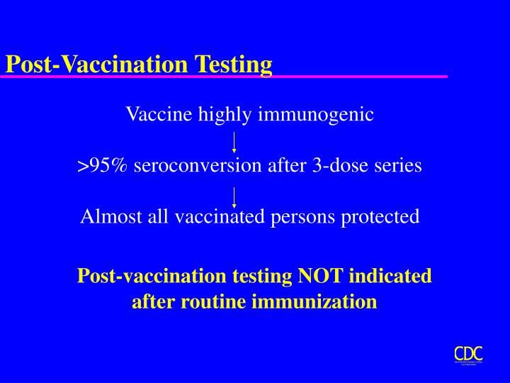 Post-Vaccination Testing