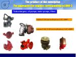 the product of the enterprise the aggregates for engines corresponding to euro 3