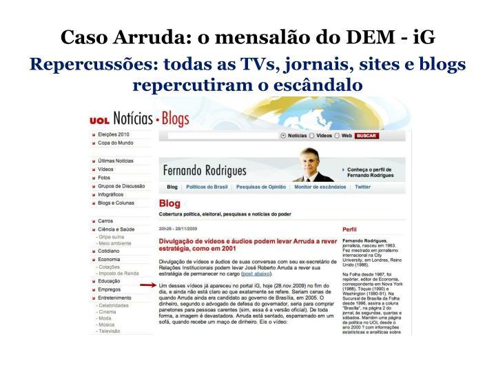 Caso Arruda: o mensalão do DEM - iG
