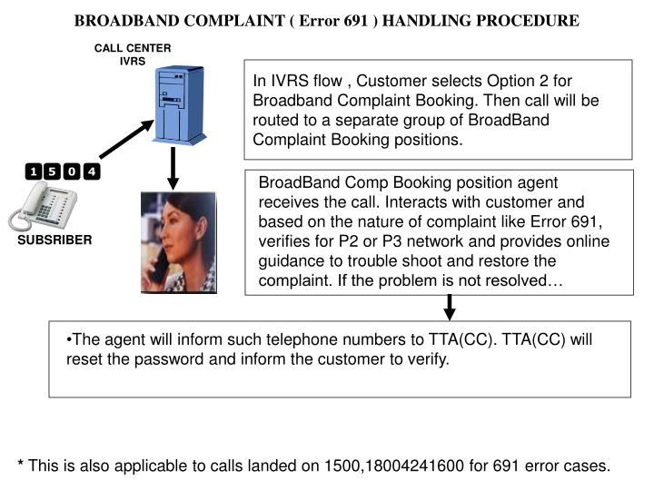 In IVRS flow , Customer selects Option 2 for Broadband Complaint Booking. Then call will be routed to a separate group of BroadBand Complaint Booking positions.