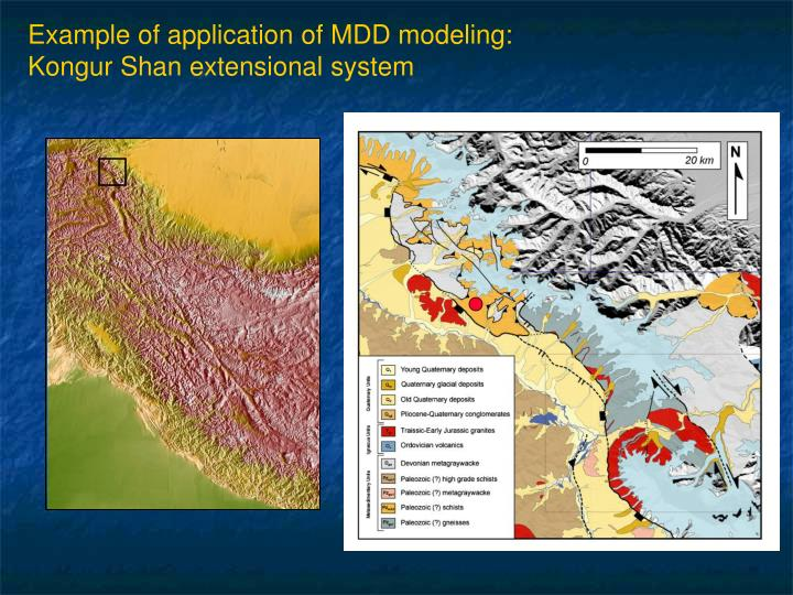 Example of application of MDD modeling: