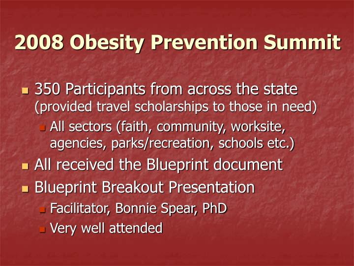 2008 Obesity Prevention Summit
