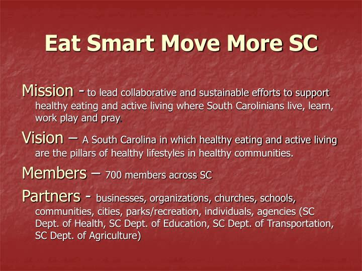 Eat Smart Move More SC