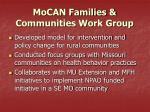 mocan families communities work group