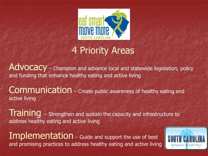 4 Priority Areas