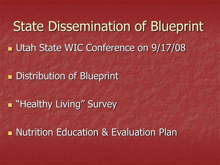 State Dissemination of Blueprint