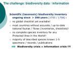 the challenge biodiversity data information