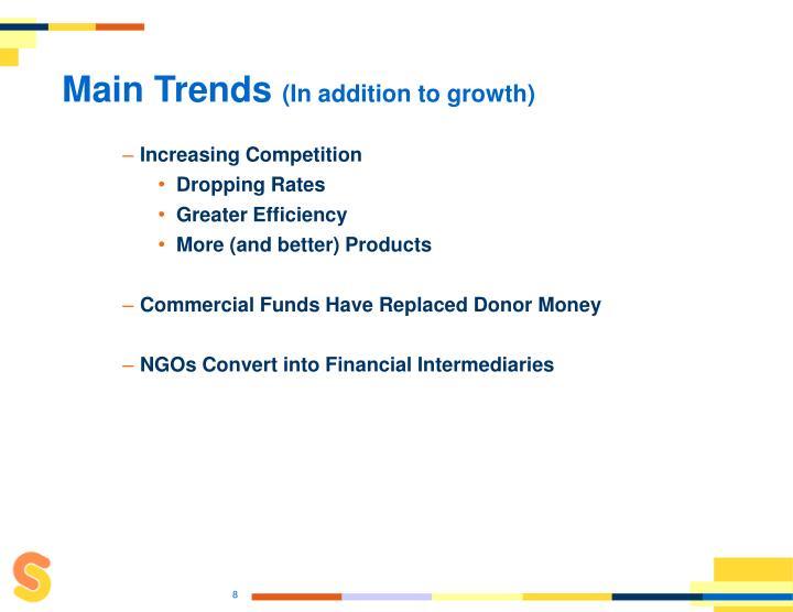 Main Trends