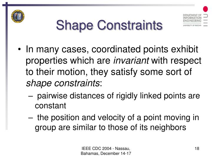 Shape Constraints