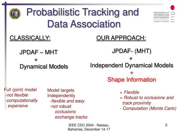 Probabilistic Tracking and