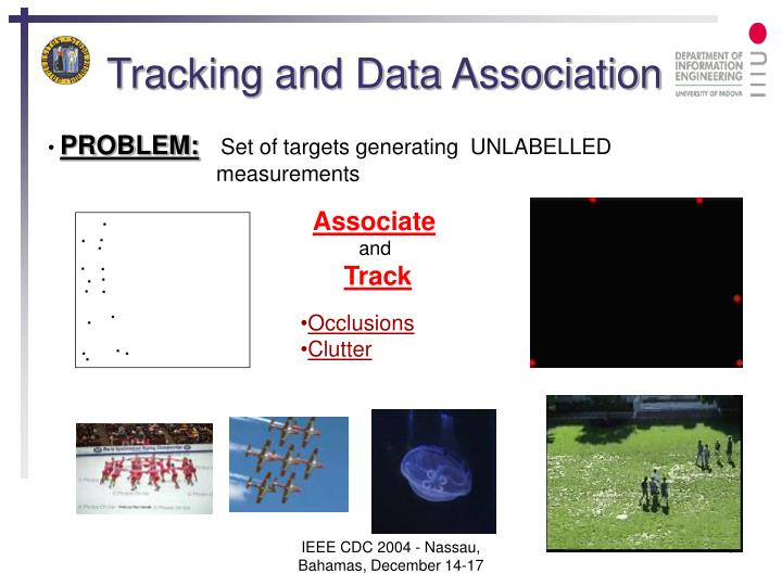 Tracking and data association