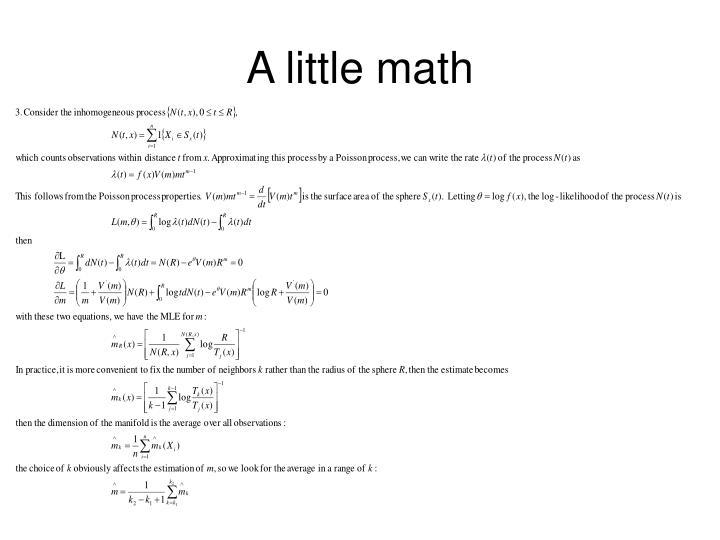 A little math