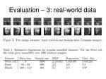 evaluation 3 real world data