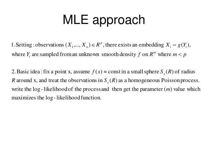 MLE approach