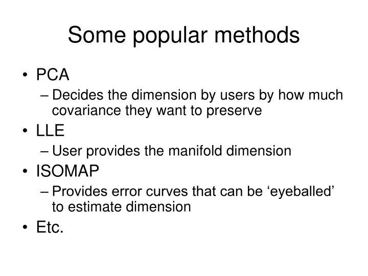 Some popular methods