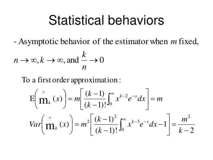 Statistical behaviors