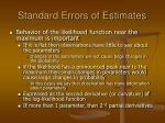standard errors of estimates