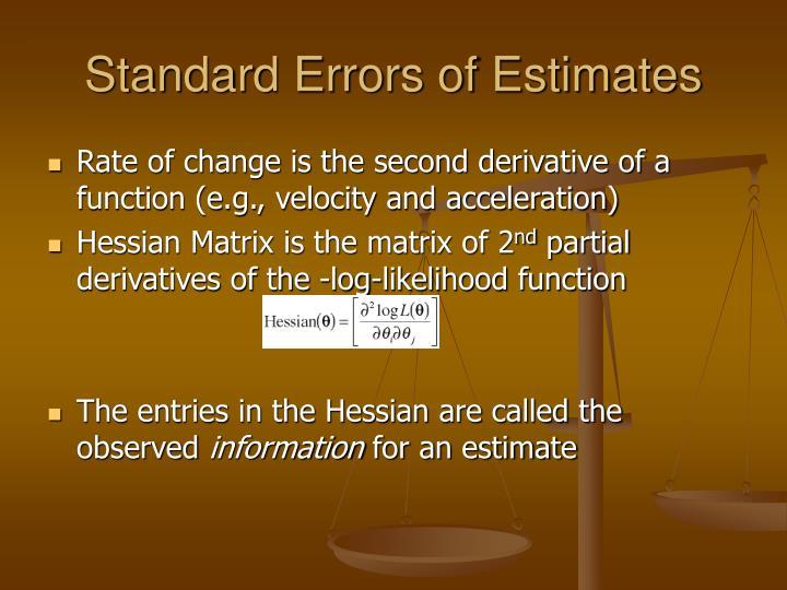Standard Errors of Estimates