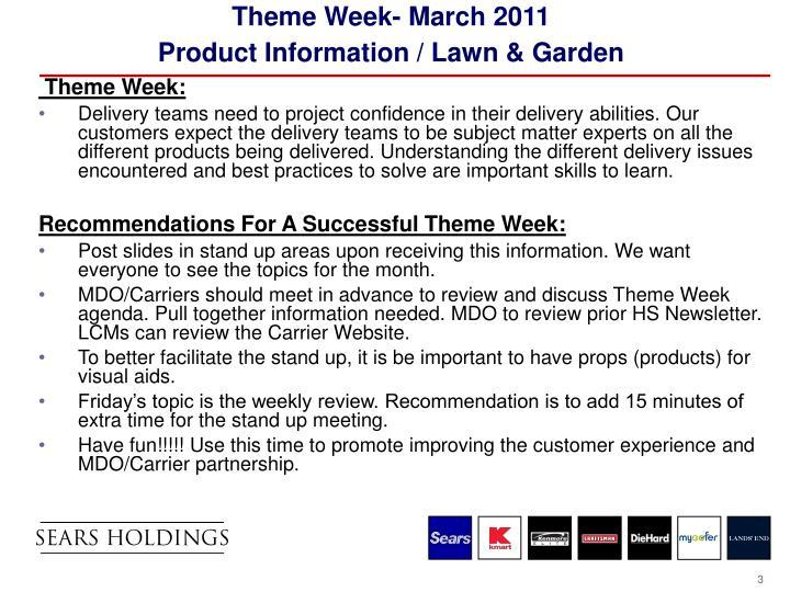 Theme Week- March 2011