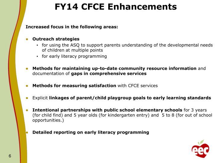 FY14 CFCE Enhancements
