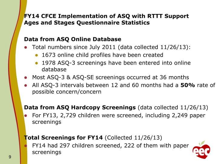 FY14 CFCE Implementation of ASQ with RTTT Support