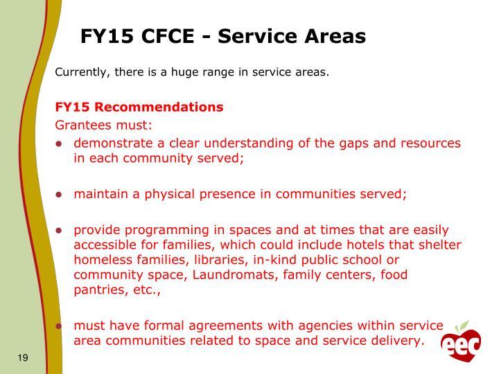 FY15 CFCE - Service Areas