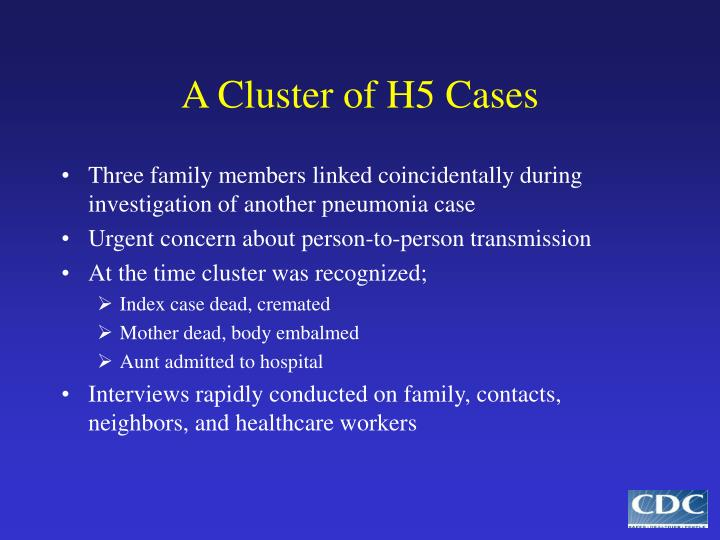 A Cluster of H5 Cases