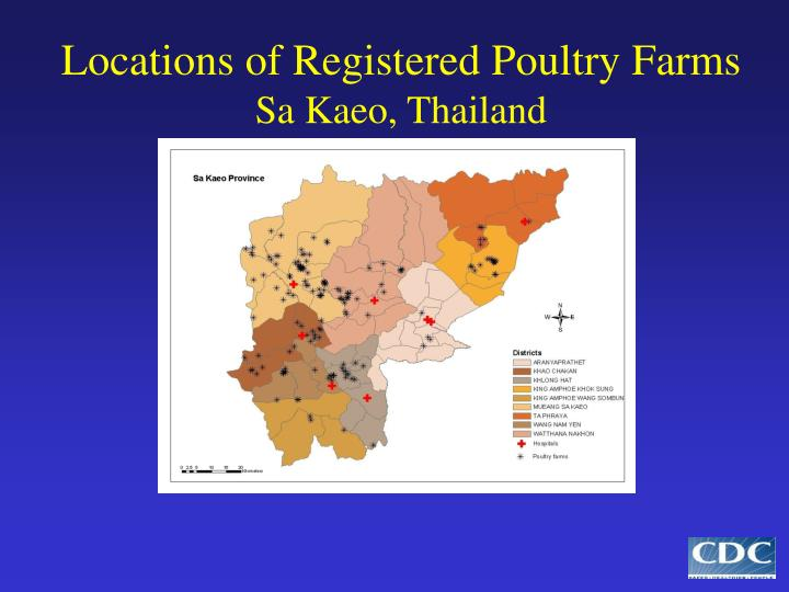 Locations of Registered Poultry Farms