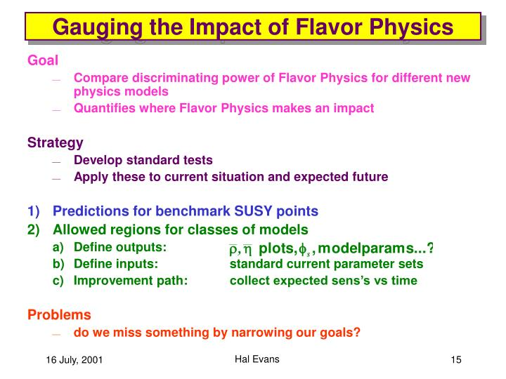 Gauging the Impact of Flavor Physics