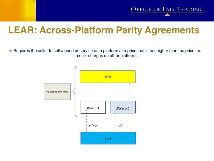 LEAR: Across-Platform Parity Agreements