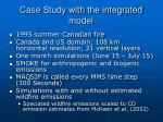 case study with the integrated model