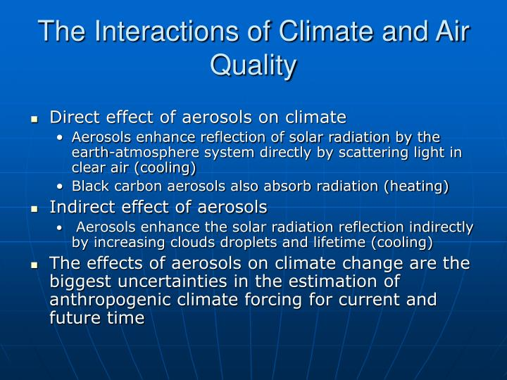 The Interactions of Climate and Air Quality