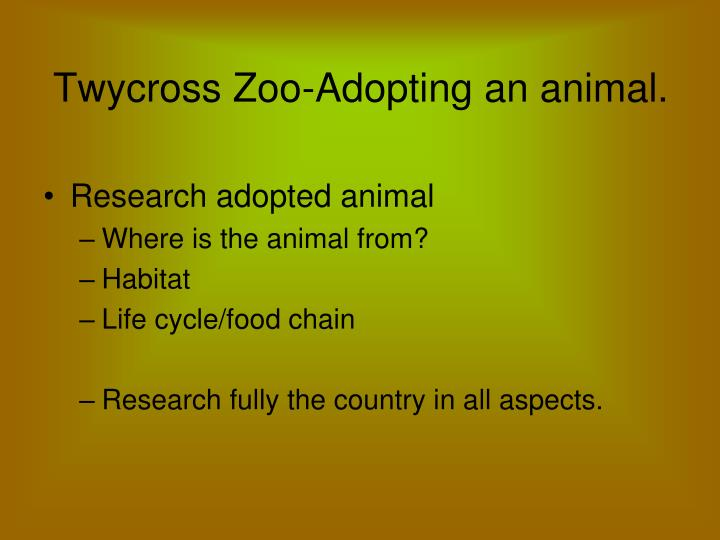 Twycross Zoo-Adopting an animal.