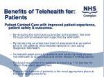 benefits of telehealth for