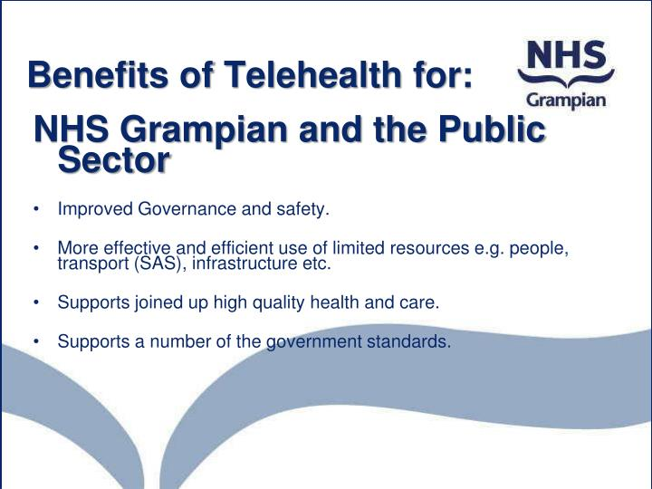 Benefits of Telehealth for: